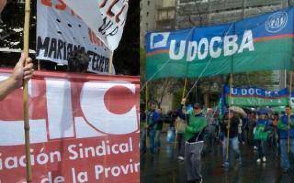 Continúan los conflictos gremiales en la Provincia: Protesta de Udocba y Cicop