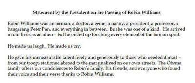 La carta de despedida de Barack Obama: