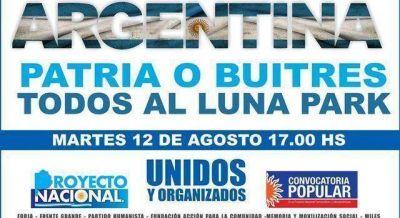 Este martes en el Luna Park, Mariotto encabezará acto multitudinario por la soberanía nacional