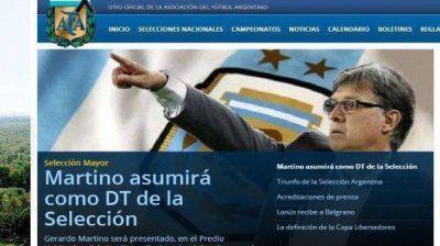 Oficial: la AFA presentar� a Gerardo Martino como DT este jueves