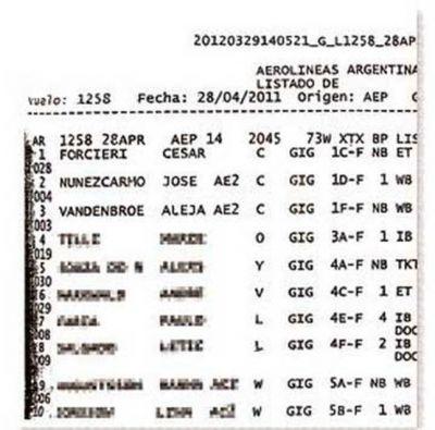 Ciccone: contradice a Forcieri un registro de vuelos a Brasil