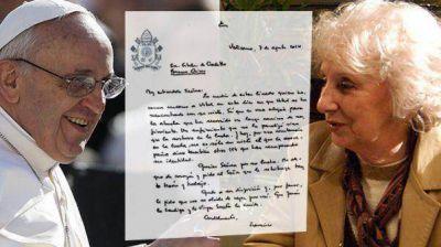 La carta del Papa a Estela por la recuperación de su nieto Guido