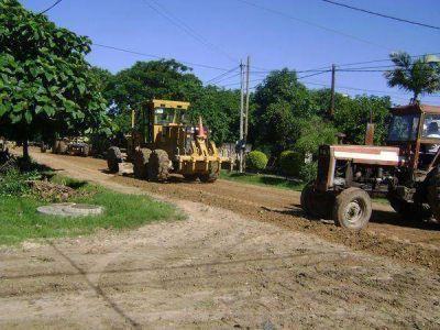 Mantenimiento de calles de tierra, limpieza y alumbrado público