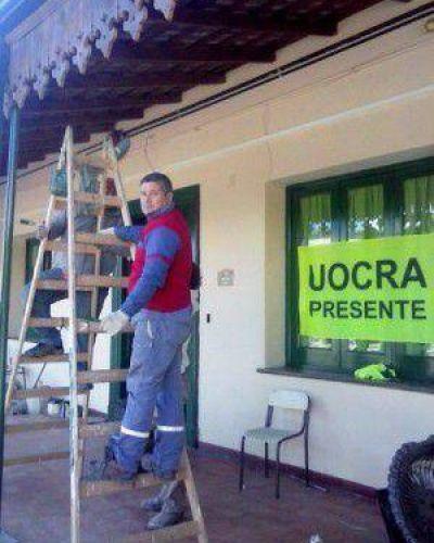 UOCRA solidario reparó parte del edificio de la Escuela Berisso