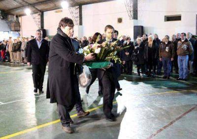 Sciurano y concejales depositaron ofrenda floral en el 164 Aniversario del fallecimiento de San Martín