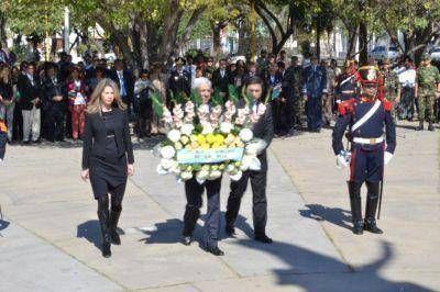 El Gobierno Provincial conmemoró el 164° aniversario del General San Martín
