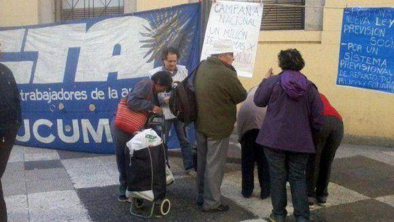 CTA Tucumán se suma a la campaña por el 82 % móvil a los jubilados.