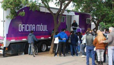 La oficina móvil del registro civil, en Sol Naciente y Ciudad Parque Las Rosas
