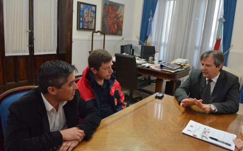 Bahl se reunió con la Federación de Bomberos Voluntarios