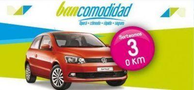 Banco Santa Cruz sorteó el primer auto 0 KM