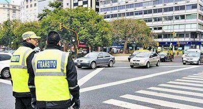 Drástica reducción de los controles de tránsito en la Ciudad de Buenos Aires