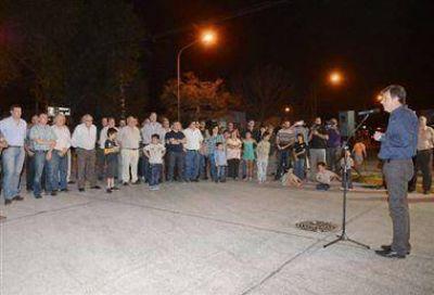 Inauguraron formalmente la pavimentación de Luis Maggi