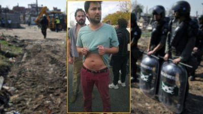 Hirieron con balas de goma a un legislador durante el desalojo del asentamiento Papa Francisco