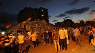 Aviones israel�es matan a dos menores palestinos en el centro de Gaza