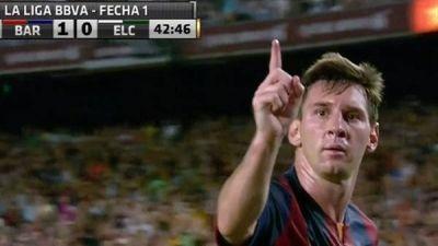 Messi marc� un doblete y Barcelona gole� a Elche