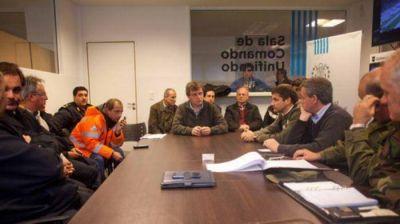 Pulti se reunió con las Fuerzas Armadas, Bomberos y Defensa Civil