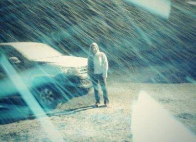 La nieve llegó a San Luis