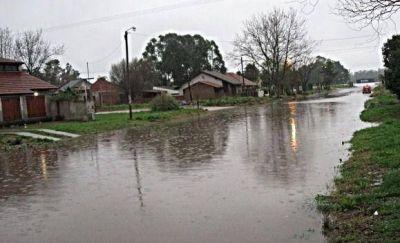 Ríos de agua por las calles de varias localidades de Mar Chiquita