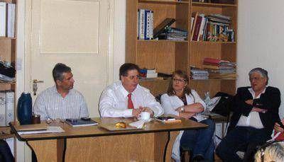 Collia se reunió con referentes gremiales de los hospitales locales