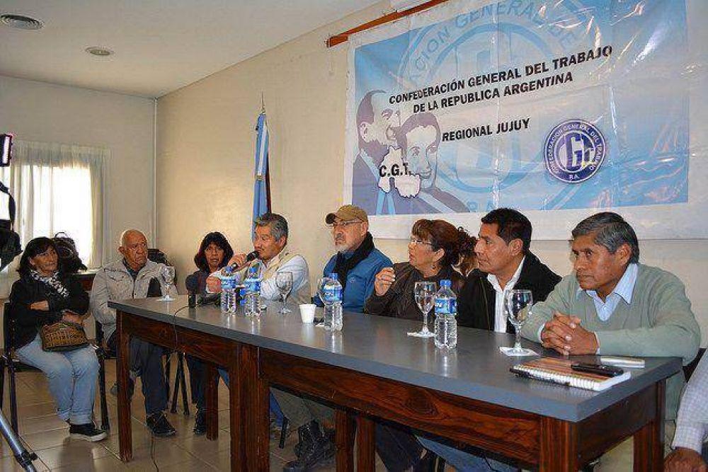 Jujuy: CGT opositora y Frente Estatal van juntos al paro nacional