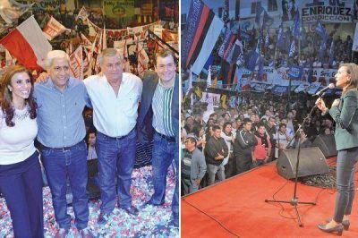Multitudinarios cierres del Frente C�vico en Santiago y en La Banda