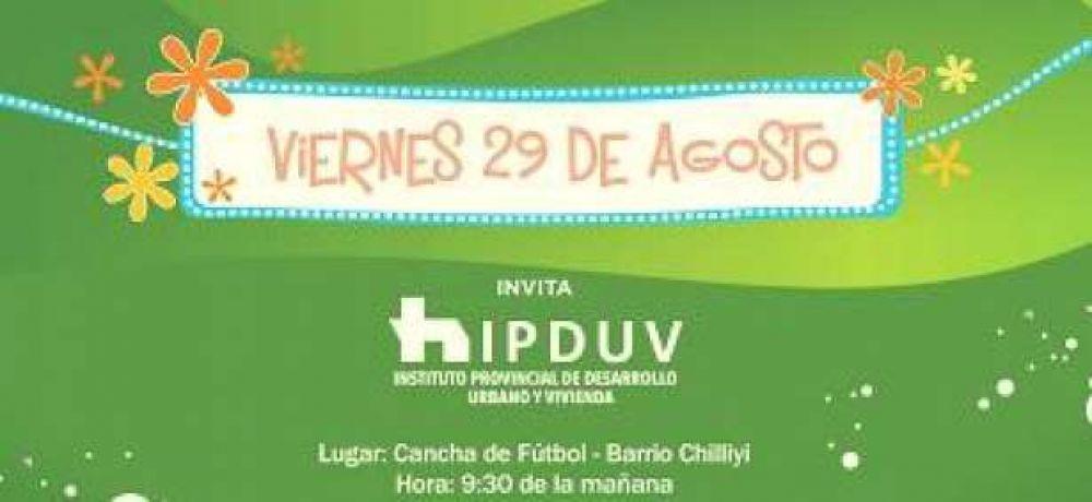 El IPDUV, hoy viernes, agasaja a niños de los barrios Chelliyí y Toba