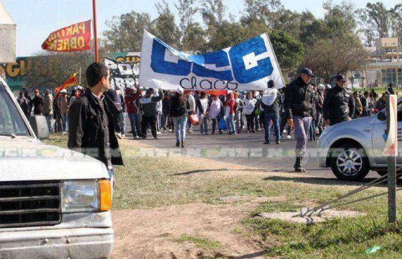 El paro nacional se hizo sentir en el Chaco con amplia participaci�n de los estatales