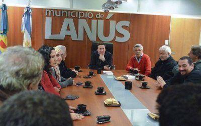 EL INTENDENTE DARÍO DÍAZ PÉREZ RECIBIÓ A REPRESENTANTES DE LA CGT REGIONAL AVELLANEDA - LANÚS