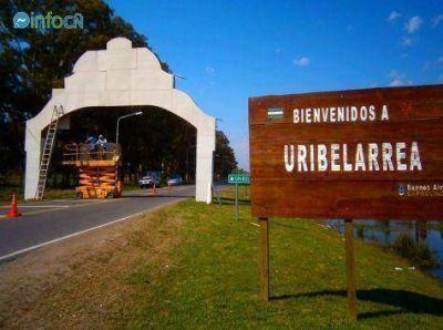 Construyen nuevo arco de acceso a Uribelarrea