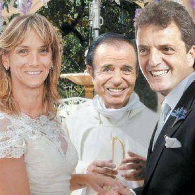 Sergio Massa tuvo a Menem como testigo de casamiento