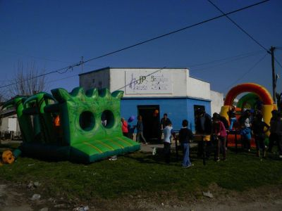 La JPNK festejó el día del niño en el barrio Pueyrredon