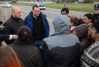 Levantaron la interrupción de la ruta luego de reunirse con autoridades municipales