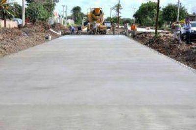 Los Frentones: Vialidad Provincial inició tareas previas para el pavimento urbano