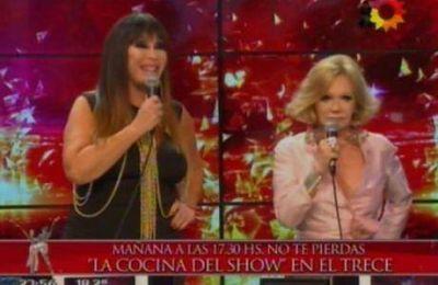 Picante cruce entre Moria Casán y Soledad Silveyra en ShowMatch