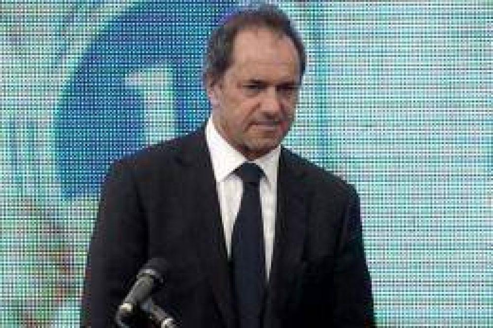 """Scioli: """"Provincia y Nación no es para cualquiera, es para dirigentes que se la banquen"""