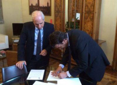 Potrero de los Funes firmó un convenio de cooperación con Monza
