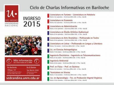 Inicia el ciclo de charlas informativas de carreras de la UNRN en Bariloche