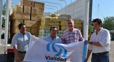 Donaci�n de Vialidad Nacional para Familias afectados por inundaciones