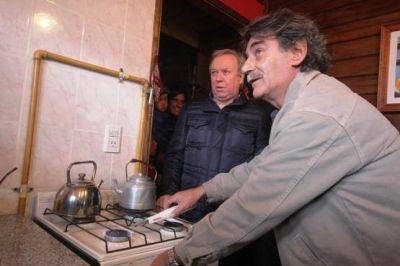 Se inauguró red de gas para el barrio Forestal