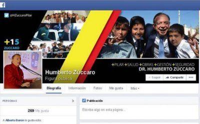 El intendente Humberto Zúccaro desembarcó en las redes sociales
