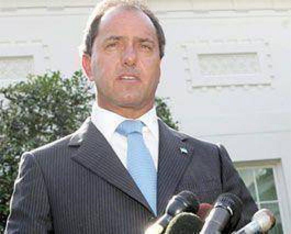 """Scioli: """"Algunos parece que todavía siguen en campaña"""""""