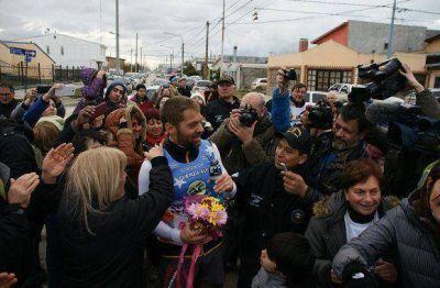 Sciurano llegó a Río Grande y completó la mitad de la ultra maratón solidaria