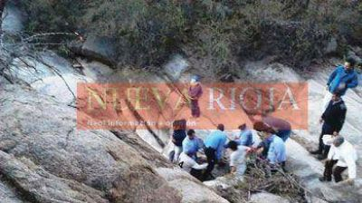 Espectacular rescate de un herido en las Sierras de Malanzán