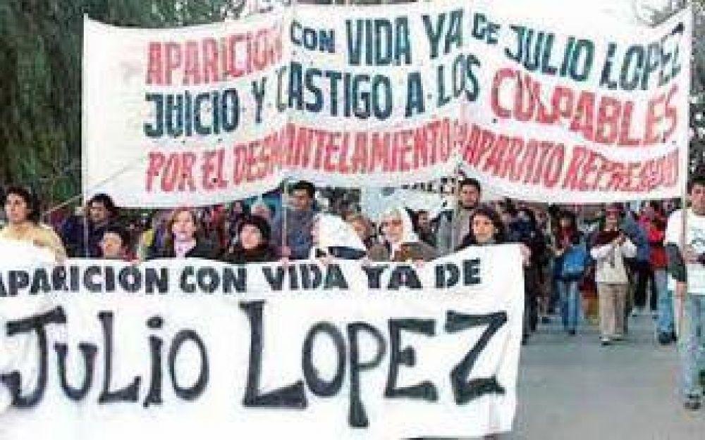 Marcha en La Plata a 8 años de la desaparición de Jorge Julio López