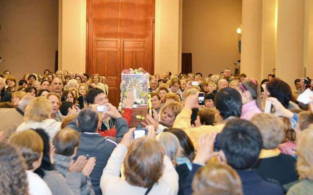 La imagen de la Virgen de Luján llegó a la Basílica