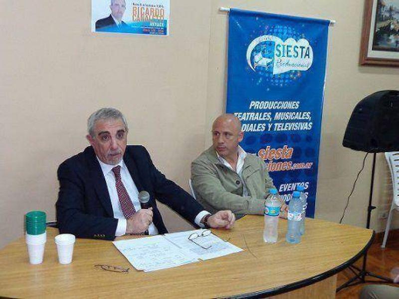 Canaletti disert� sobre seguridad invitado por el STMVL en Olivos