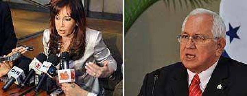Cristina llamó a la pacificación en Honduras pero recibió el contraataque de Micheletti