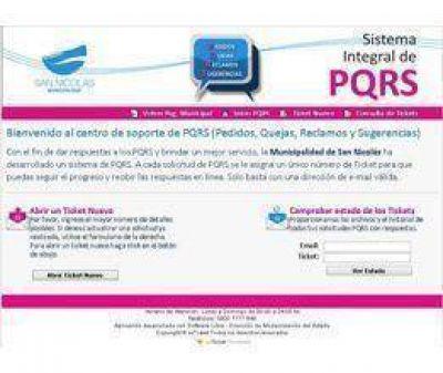 Sistema de reclamos on line de la Municipalidad