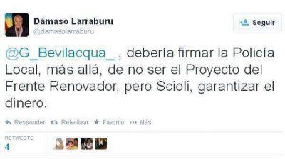 Larraburu pidió la Policía Comunal