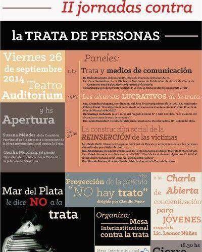 Se vienen las II Jornadas contra la Trata de Personas en Mar del Plata